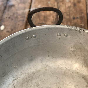Vintage Aluminium Jam Pan with Two Handles