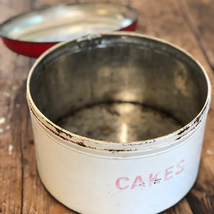 Worcester Ware Red & Cream Vintage Cake Tin