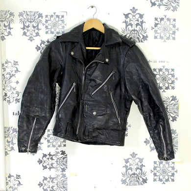 1960s Leather Biker Jacket