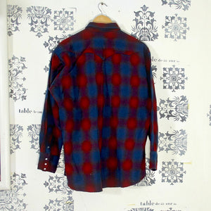 Vintage Pendleton Western Red Check Shirt - Pearl Snaps