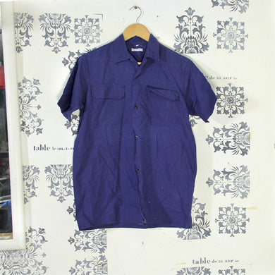 1940s French Vintage Linen Chore Shirt