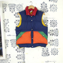 Load image into Gallery viewer, 1970s Multi Colour Down Gilet