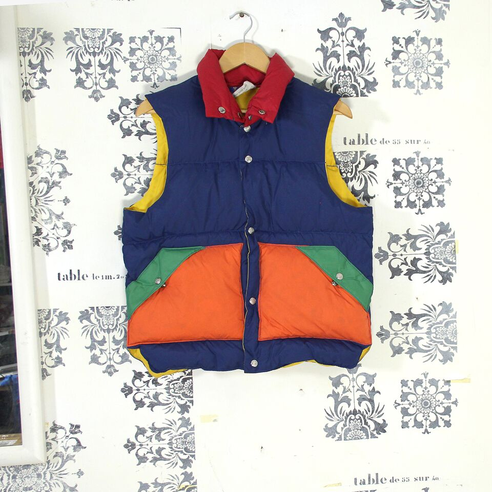 1970s Multi Colour Down Gilet