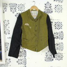 Load image into Gallery viewer, 1930s Two-Tone Buckleback Fancy Chore Jacket