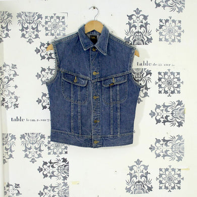 Vintage Lee Riders Denim Vest Jacket
