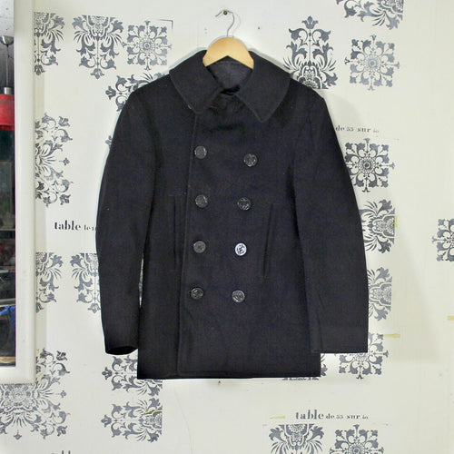 Original WW2 US Navy 10 Button Pea Coat