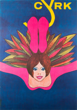 Load image into Gallery viewer, Polish CYRK Poster - Acrobat Swinging 1978, Janowski