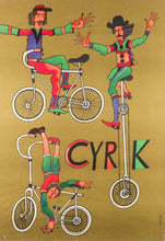 Load image into Gallery viewer, Polish CYRK Poster - Cycling Acrobats 1975, Stachurski
