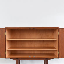 Load image into Gallery viewer, Vintage Danish Small Two Door Teak Cabinet by Borge Mogensen for Soborg Møbler