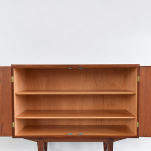 Vintage Danish Small Two Door Teak Cabinet by Borge Mogensen for Soborg Møbler