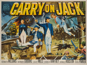 Carry On Jack 1963 Original UK Quad film movie poster, Chantrell