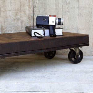 Pallet & Casters Coffee Table