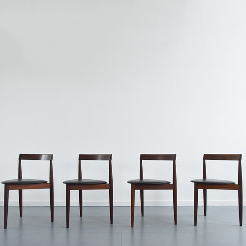 Vintage Set of Four Hans Olsen Frem Rojle Danish 'Roundette' Dining Chairs