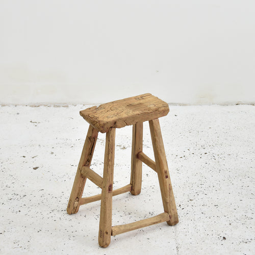 Chinese Shanxi Antique Elm Stool