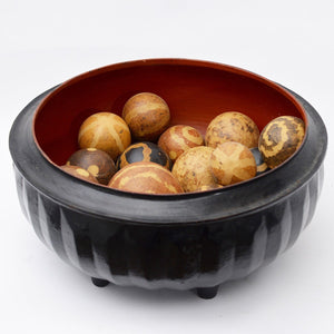 Chinese Style Vintage Bowl With Decorative Balls