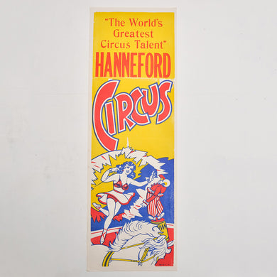 Vintage Circus Poster 3 - Hanneford