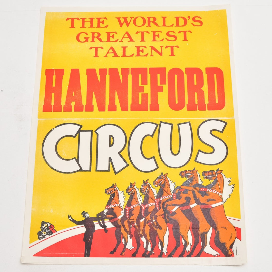 Vintage Circus Poster 9 - Hanneford