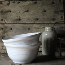 Load image into Gallery viewer, White Vintage Mixing Bowl