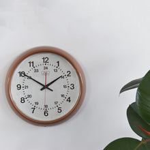 Load image into Gallery viewer, Vintage Bronze / Brown Coloured Torpey Controls Canadian Round Wall Clock