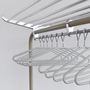 Vintage 1960s Large Freestanding Metal Clothes Rail by R.W. Bamforth & Co.