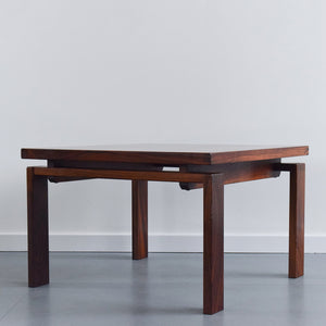 Vintage Square Teak Mid-Century Rosewood Coffee Table by Trioh of Denmark
