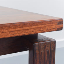 Load image into Gallery viewer, Vintage Square Teak Mid-Century Rosewood Coffee Table by Trioh of Denmark
