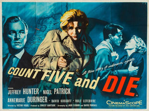 Count Five and Die 1957 original vintage UK quad film movie poster Tom Chantrell art