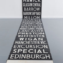 Load image into Gallery viewer, Vintage Very Large Cumbrian / North West Original Bus Scroll Banner
