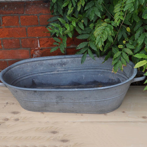 Vintage Galvanised Metal Child's Bath NoB2