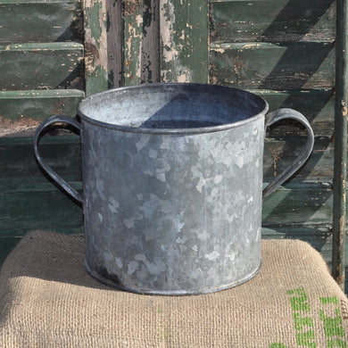 Vintage 1950/60s Galvanised Metal Container - Pot 3