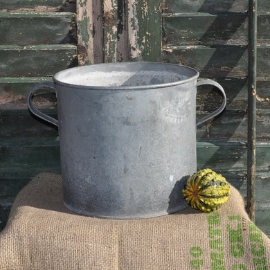 Vintage 1950/60s Galvanised Metal Container - Pot 4