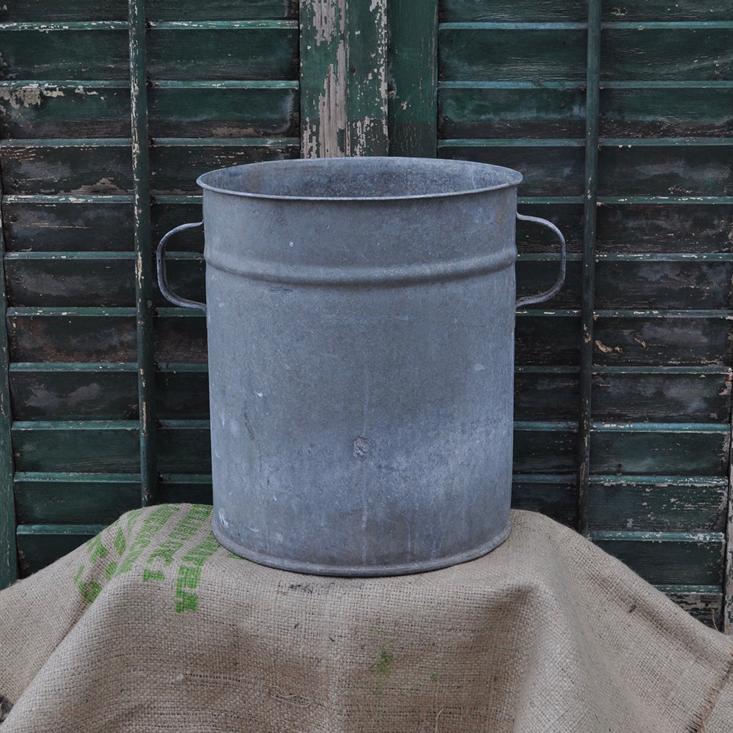 Vintage Galvanised Metal Planter No. 10