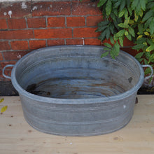 Load image into Gallery viewer, Vintage Galvanised / Zinc Deep-Sided Oval Bath No1