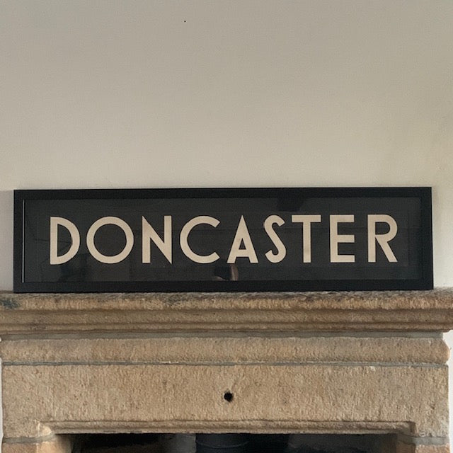 Framed Vintage Bus Blind - Doncaster