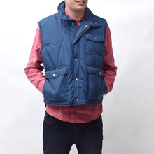 Load image into Gallery viewer, Vintage Sigallo Blue Ski Gilet