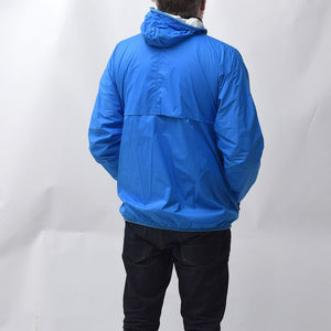 Vintage 1990s Blue K-WAY Wind Breaker