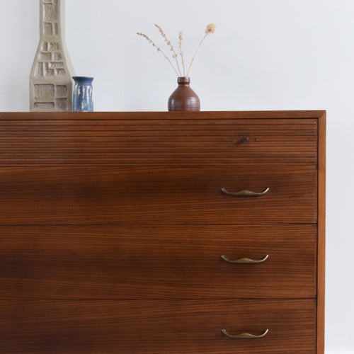 Rare Vintage 1960s 'Havana' Range Teak and Rosewood 4 Drawer Chest of Drawers by Wrighton
