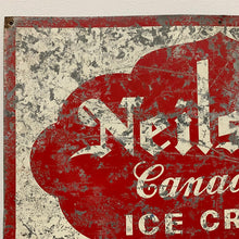 Load image into Gallery viewer, Original 1930s Ice Cream Sign Paint on Tin