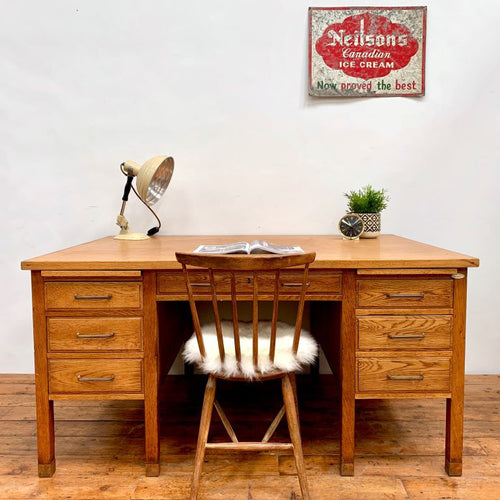 1930s Desk in Oak by Simpoles of Manchester