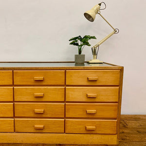 Mid Century Haberdashery Counter / Drawers