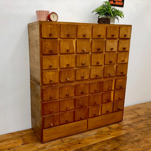 Mid Century Teak Index Card Cabinet
