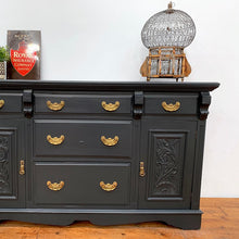 Load image into Gallery viewer, Original Early 20th Century Large Sideboard in Off Black