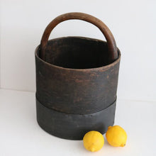 Load image into Gallery viewer, ANTIQUE WOODEN COAL BUCKET