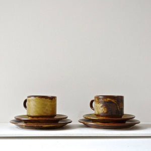 1960s Suisse Langenthal Cups & Saucers - Set of Two