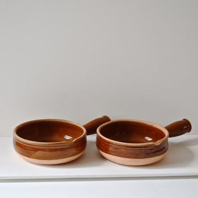 French Vintage Terracotta Ramekins - Pair