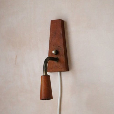 Teak Wall Light