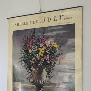 Vintage Shell Wall Chart - Flowers in July