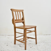 Load image into Gallery viewer, English Elm Antique Chapel Chairs