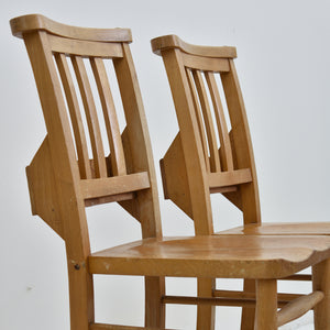 English Elm Antique Chapel Chairs