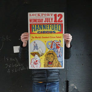 Hanneford Circus Poster - Wed July 12th